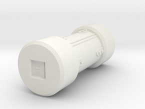 Supply Canister in White Natural Versatile Plastic