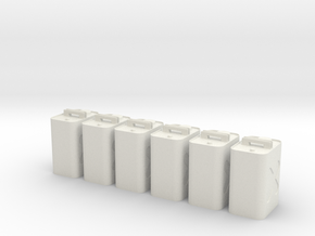 Gas Can 6 Pack in White Natural Versatile Plastic