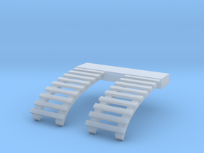 HO B&QT 8000 ROOF LADDERS 1pr in Smooth Fine Detail Plastic