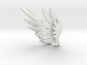 Bjd Feather Wings for Magnets  in White Natural Versatile Plastic