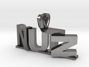 Nutz Leters 1 in Polished Nickel Steel