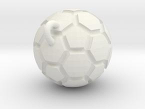 Pendant(Soccer Ball) in White Strong & Flexible