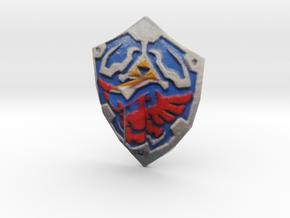 hilian shield Zelda colored for lego in Full Color Sandstone