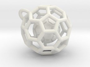 Pendant (Soccer Ball)a in White Natural Versatile Plastic