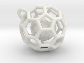 Pendant (Soccer Ball)a in White Strong & Flexible