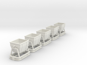 009 C&M Tipper  X5 in White Natural Versatile Plastic