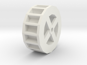 Water Wheel in White Natural Versatile Plastic