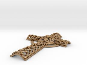 Celtic Cross in Polished Brass