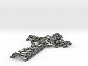 Celtic Cross in Polished Silver