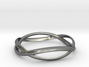 Wave Ring ~ US Size 8  in Polished Silver