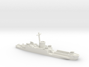LCI(L) Late Forward Gun Tub 1/700 Scale in White Natural Versatile Plastic