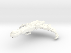 Cha'Joh Class Destroyer in White Strong & Flexible Polished