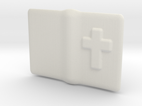 "Small open Bible for 6"" to 12"" figures in White Natural Versatile Plastic"