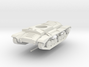 Vehicle- Valentine Tank MkIII (1/72) in White Natural Versatile Plastic