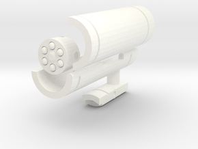Waves of Sound Weapon - Launcher Long in White Processed Versatile Plastic