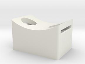 Guide Mount in White Natural Versatile Plastic