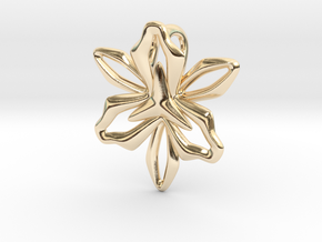 Lily Pendant in 14K Yellow Gold