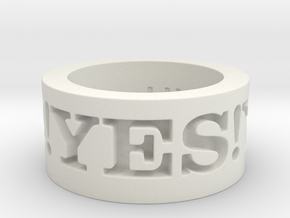 Yes! Ring Design Ring Size 8.5 in White Natural Versatile Plastic