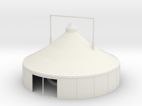 Zelt - 12 Meter Version 1 - 1:87 (H0 scale) in White Strong & Flexible