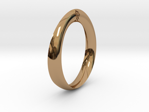 Moebius Love Ring in Polished Brass