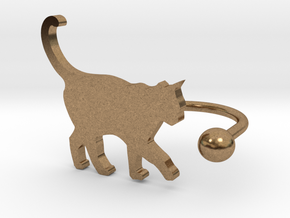 [Ring]Kitty play with a Ball (size 8) in Natural Brass