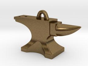 Anvil Pendant - Original Design in Raw Bronze
