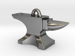 Anvil Pendant - Original Design in Polished Silver