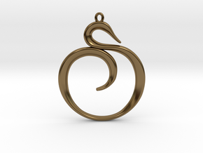 The Spiral Pendant in Polished Bronze