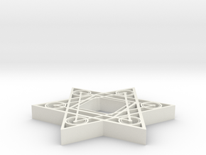 Star Square - 2 inch in White Natural Versatile Plastic