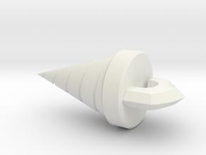 Coredrillsmall in White Natural Versatile Plastic