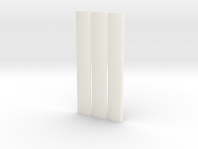Roof profiles for Worsley Works 3SUB in White Processed Versatile Plastic