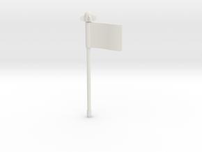 Strika-flag02 in White Natural Versatile Plastic