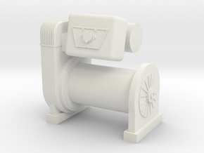 1/10 Scale Warn M8274 Scale Crawler Winch in White Natural Versatile Plastic