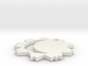 IMPRENTA3D Moonsun in White Natural Versatile Plastic