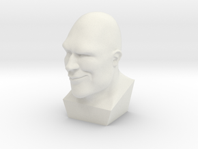 TF2 Heavy Bust in White Natural Versatile Plastic