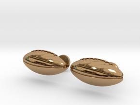 Football Cufflinks in Polished Brass