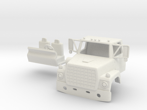 1/64 LN 900 Truck Cab with Interior in White Strong & Flexible