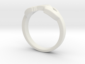 The Legend of Zelda Triforce Ring  in White Strong & Flexible