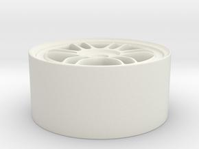 """Enkei RPF1 17"""" Rim (1/24th scale) in White Natural Versatile Plastic"""