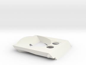 Cupholder Arm V2 in White Natural Versatile Plastic