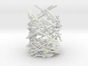 Kinetic Pen Holder in White Natural Versatile Plastic