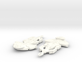 Corrak Class Cardassian in White Strong & Flexible Polished