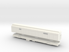 Z Scale Pullman Heavyweight Baggage Car in White Strong & Flexible Polished