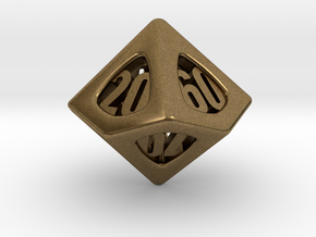 Thoroughly Modern d10 Decader in Natural Bronze