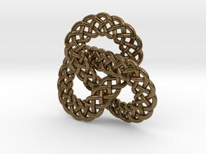 Celtic Knot Trefoil Pendant in Natural Bronze