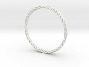 Spiral Bracelet Medium Large in White Natural Versatile Plastic
