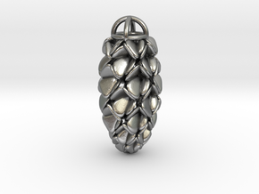 Pinecone Pendant in Natural Silver