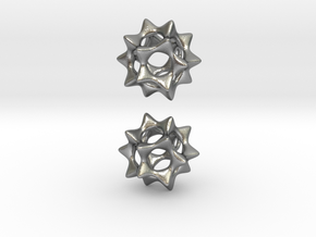 Sectik Star Earrings in Natural Silver