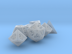 Thoroughly Modern Dice Set with Decader in Smooth Fine Detail Plastic
