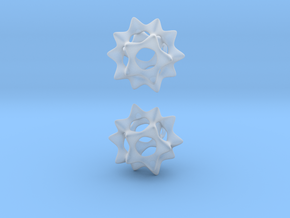 Sectik Star Earrings in Smooth Fine Detail Plastic